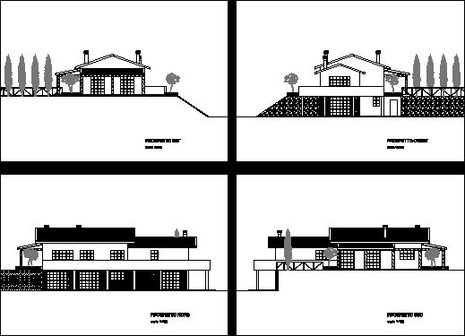 Render di villetta 3d blog dam render 3d for Prospetti di villette